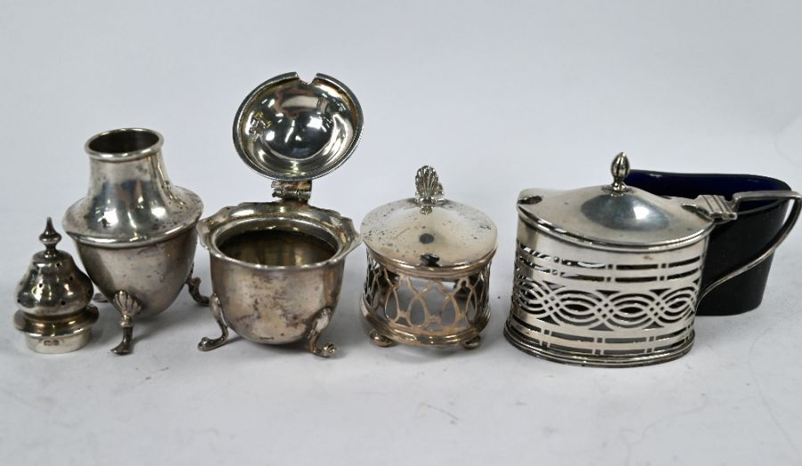 Silver cream jug and various condiments - Image 3 of 6