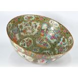 A 19th century Chinese Canton famille rose punch bowl