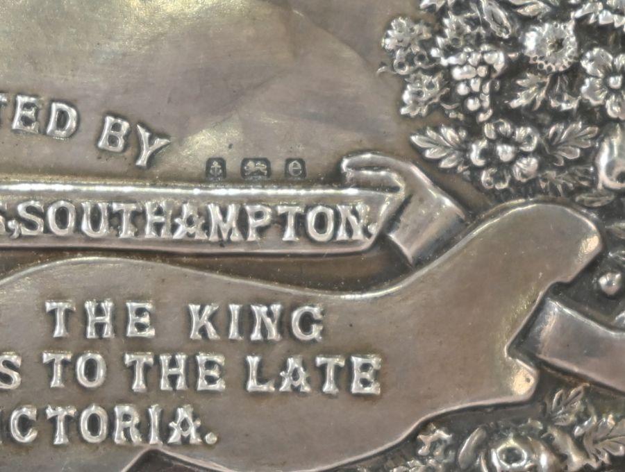 Edwardian silver-mounted trophy shield - Image 3 of 4