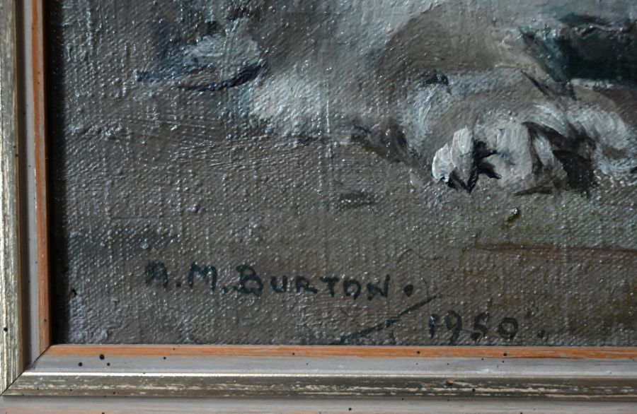 A M Burton - oil on canvas - Image 3 of 8
