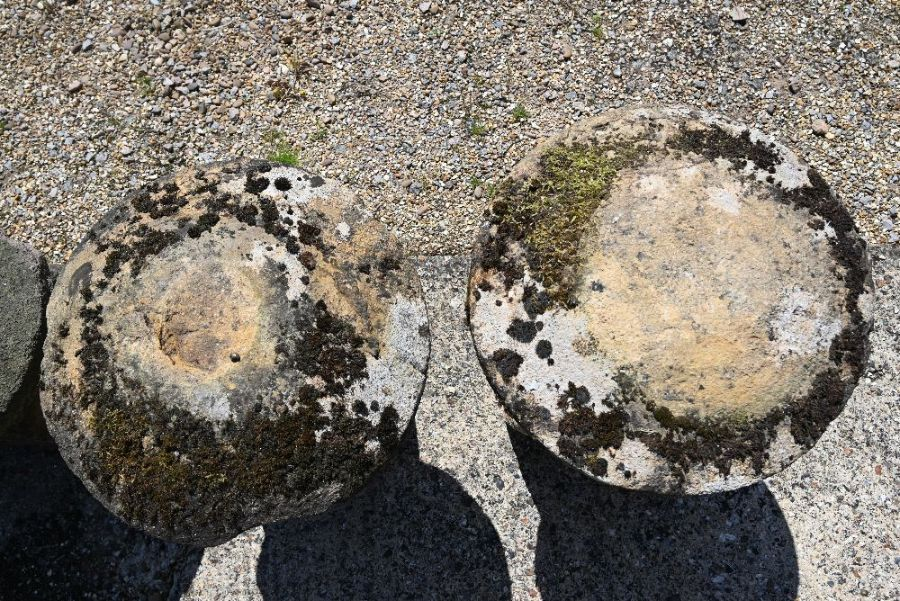 A pair of antique weathered staddle stones - Image 3 of 3