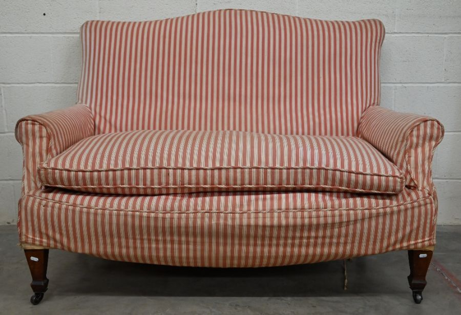 An antique humpback two seat sofa for re-upholstery - Image 2 of 2