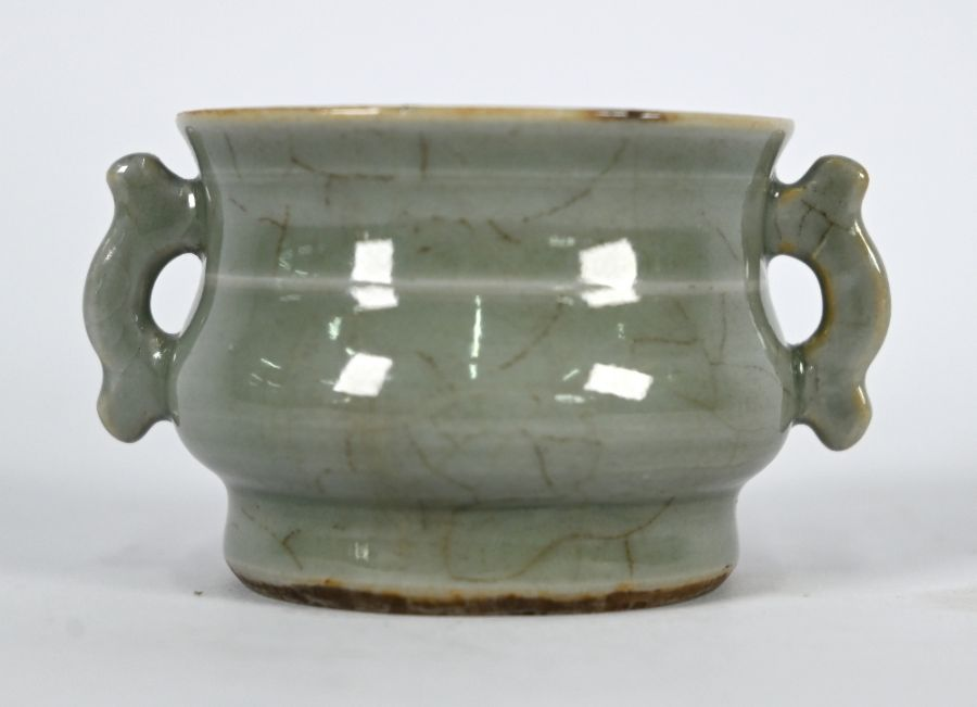 A Chinese Ge style small censer, 4.5 cm high - Image 6 of 8