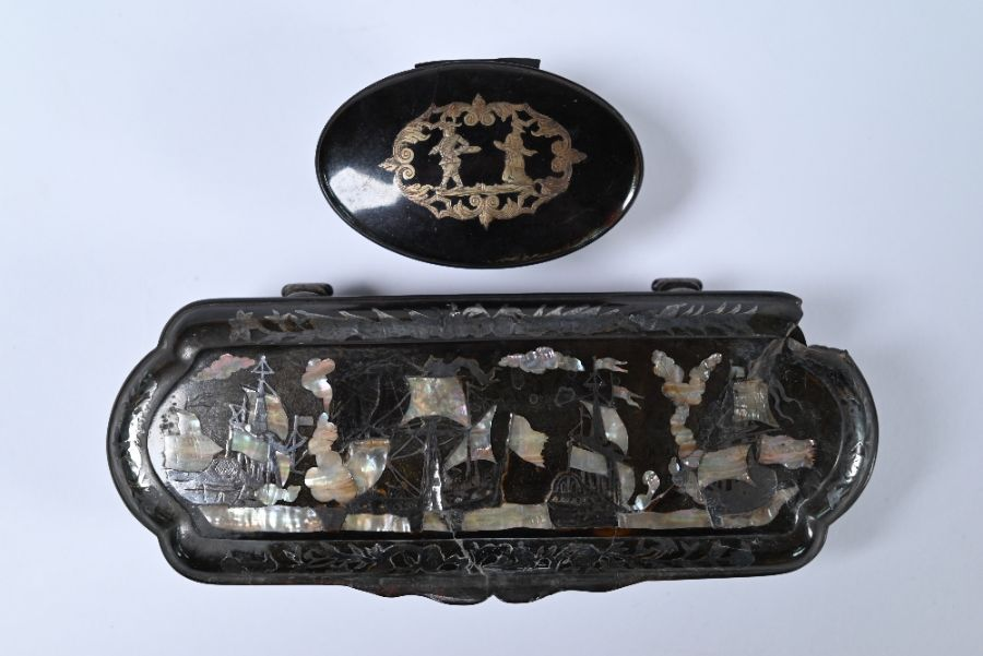 Two Continental tortoiseshell snuff boxes - Image 2 of 3