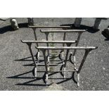 Two pairs of riveted cast iron greenhouse trestle stands, early 20th century