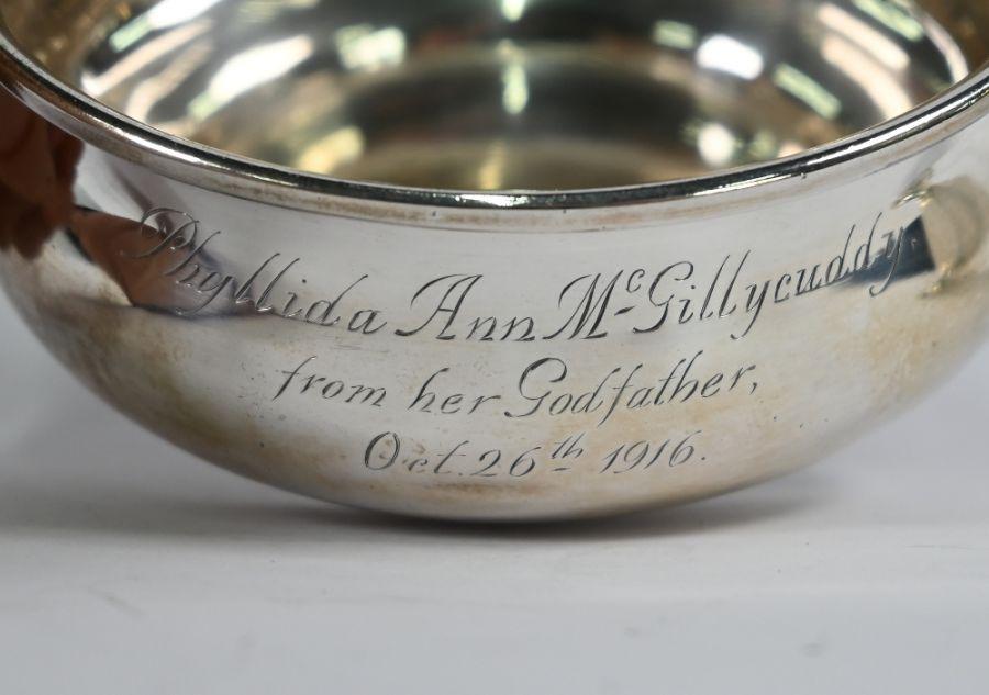 Silver porringer & sugar caster - Image 2 of 4