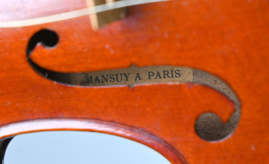 A French violin with Mansuy of Paris label - Image 4 of 4