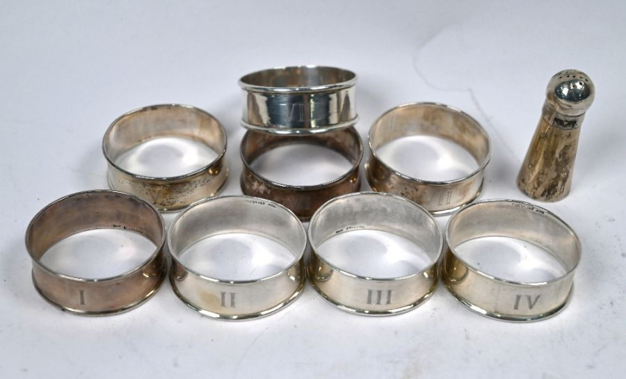 Silver napkin rings, etc. - Image 3 of 4