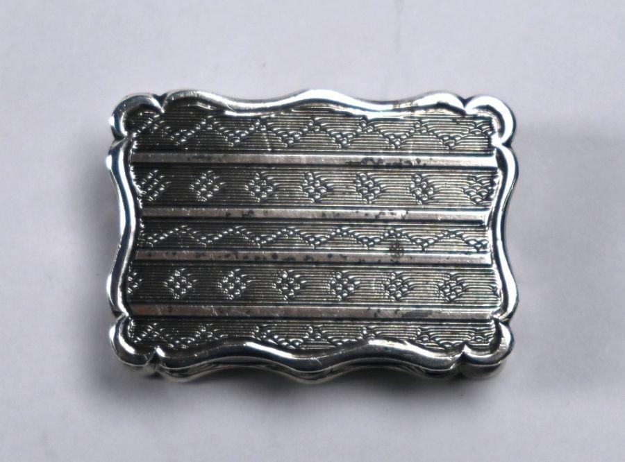 Victorian silver vinaigrette, Birmingham 1864 - Image 3 of 6