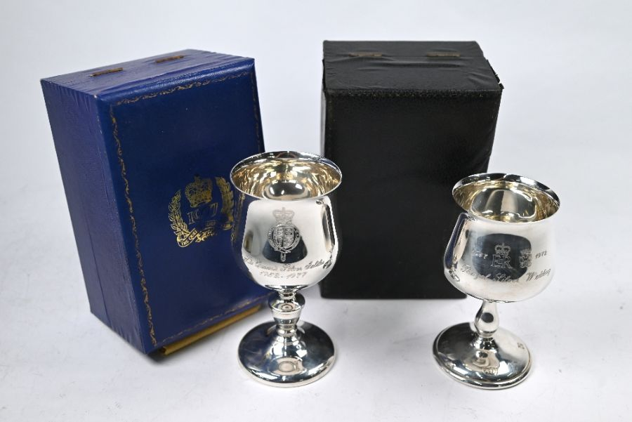 Two Royal commemorative silver goblets - Image 2 of 5