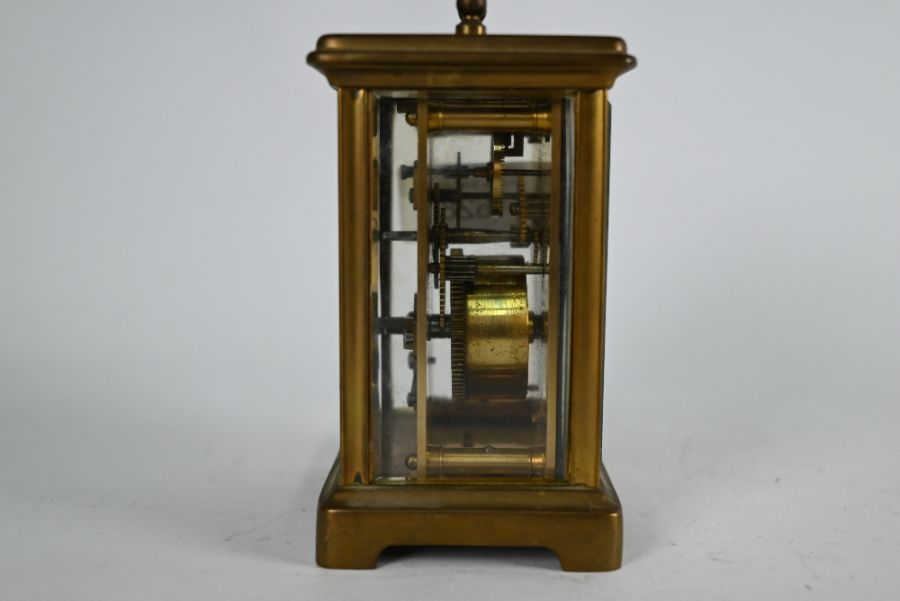 Clarke & Keley, Calcutta, a French brass cased single train carriage clock - Image 3 of 5