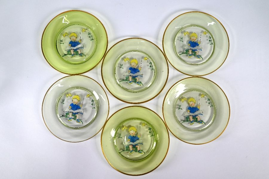 Glass goblet, jugs, nursery plates etc - Image 3 of 4