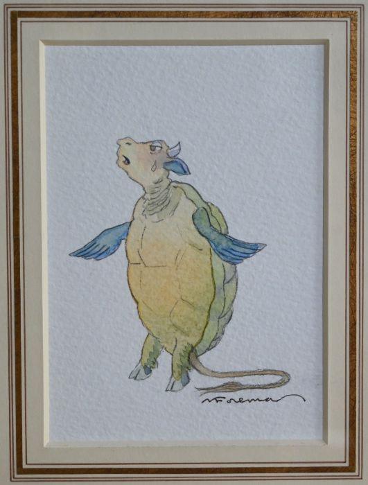 Michael Foreman (b 1938) - watercolour - Image 2 of 2