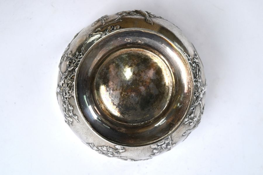 Chinese export silver rose-bowl, Tuck Chang (Shanghai) - Image 5 of 5