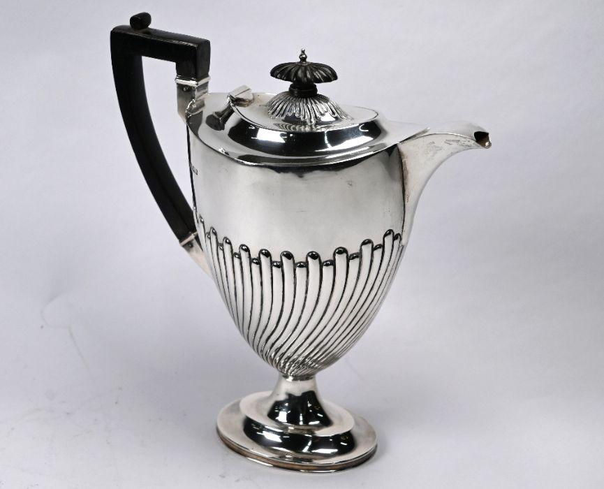Late Victorian silver coffee pot