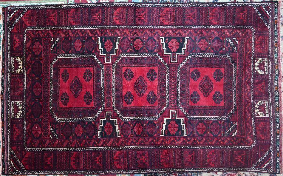 A Turkoman rug, 180 cm x 120 cm
