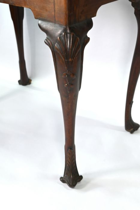 A George III mahogany shell carved silver table of Irish origin - Image 2 of 5