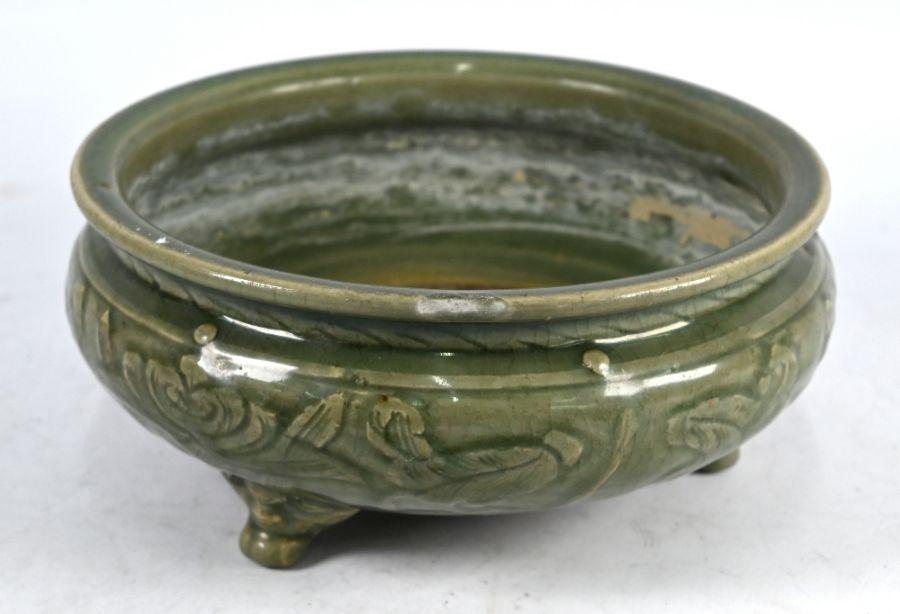 A Chinese celadon tripod censer, Ming dynasty (1368-1644)