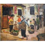 Lin Yeh/Helen Cheng/Mr and Mrs Robert Lou - oil on canvas