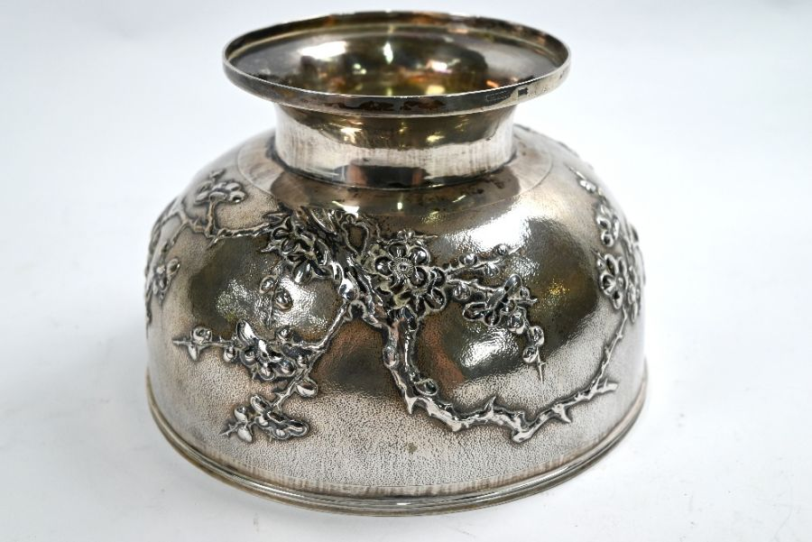 Chinese export silver rose-bowl, Tuck Chang (Shanghai) - Image 3 of 5