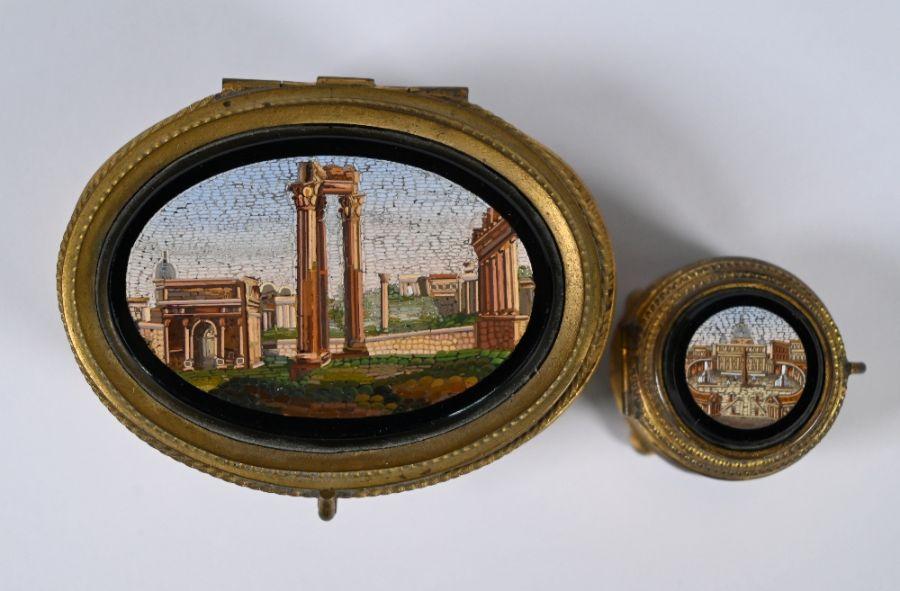 A 19th century Italian oval casket - Image 2 of 3