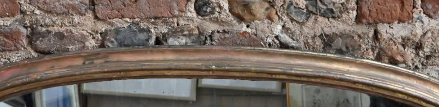 A Victorian arched giltwood framed overmantel - Image 3 of 5