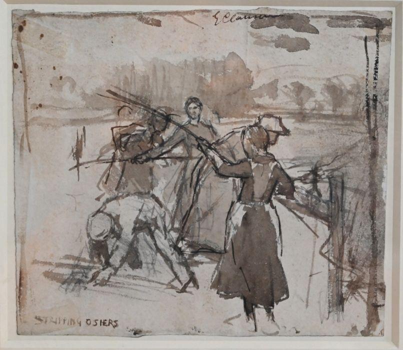 George Clausen RA (1852-1944) - wash