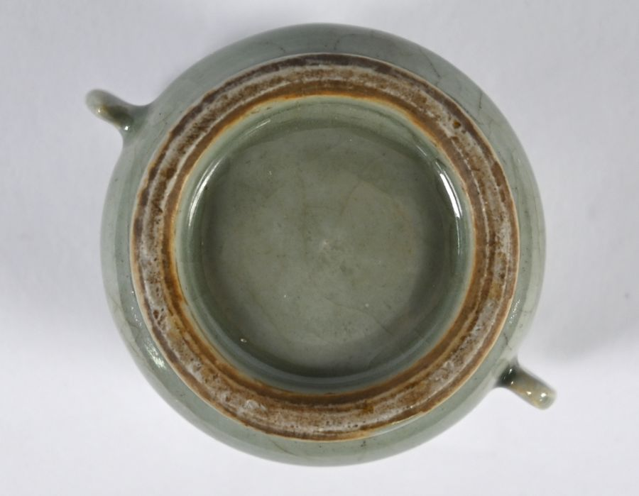 A Chinese Ge style small censer, 4.5 cm high - Image 8 of 8