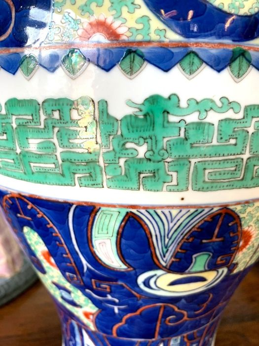 A Chinese wucai baluster vase, late Qing, 41 cm high - Image 9 of 12