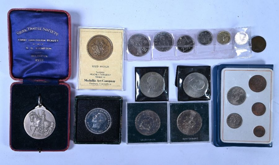 A Shire Horse Society silver medal and other items - Image 3 of 5