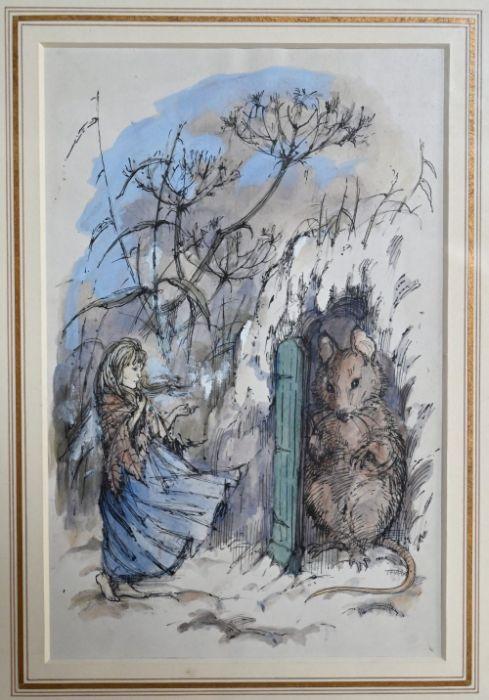 Shirley Hughes (b 1927) - ink and watercolour