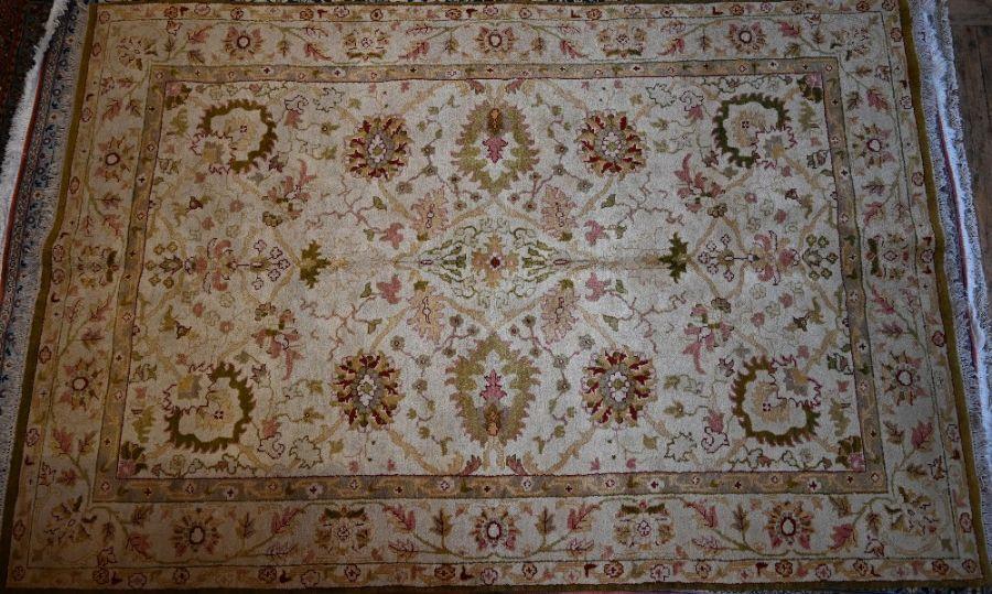 An Indian Agra carpet, 280 cm x 184 cm