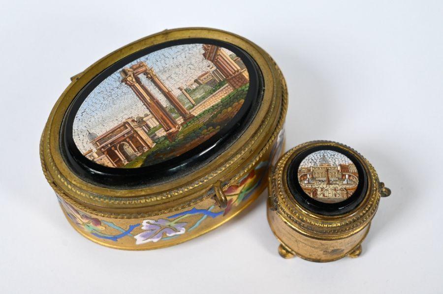 A 19th century Italian oval casket