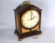 George III mahogany cased table clock