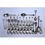 Silver teaspoons, etc