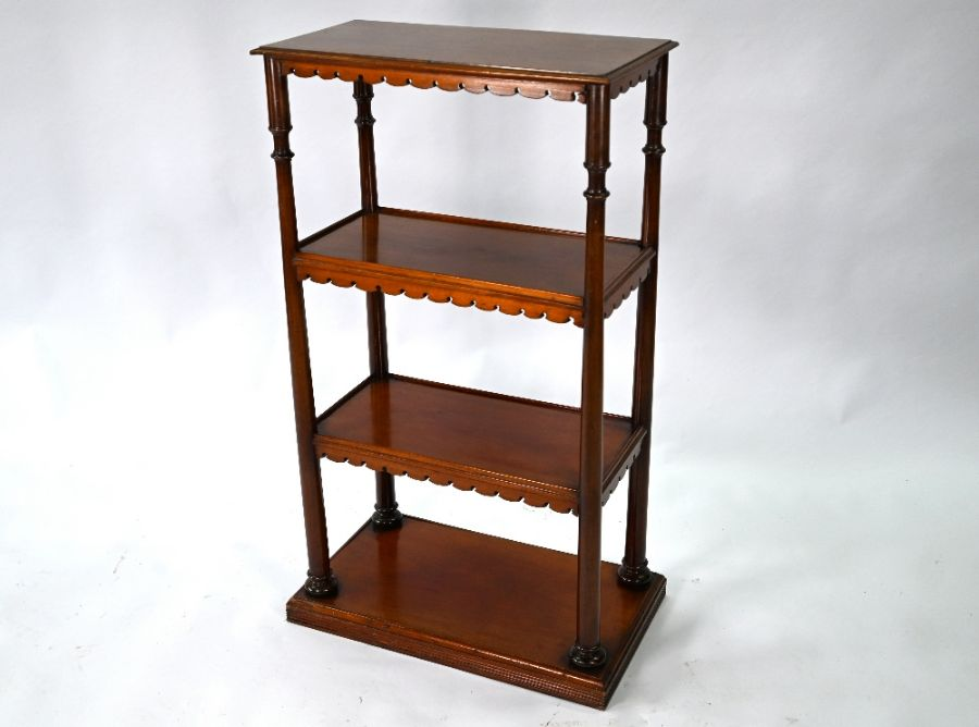 A Victorian mahogany three tier bookstand / what-not