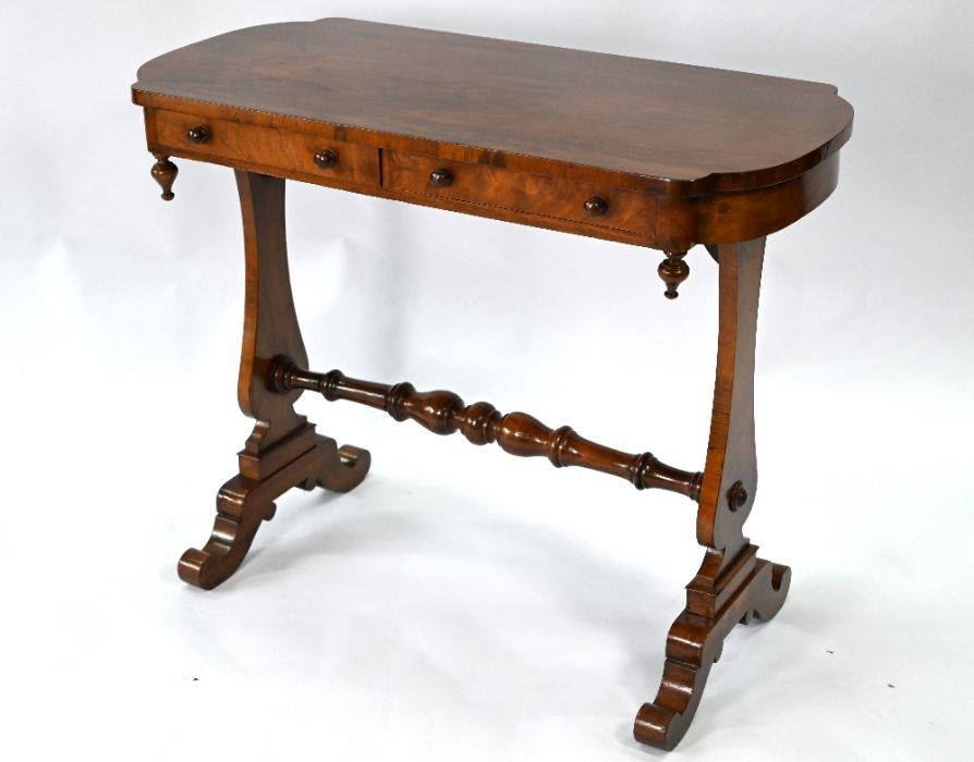 A Victorian rosewood side table