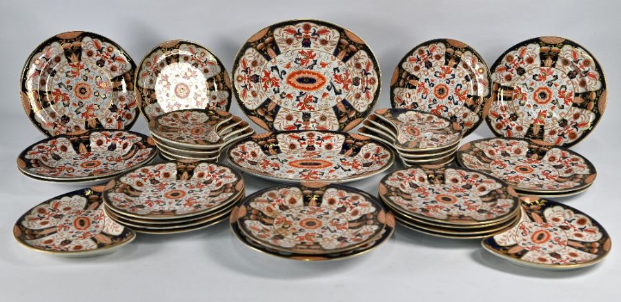 A Victorian Ashworth Brothers Real Ironstone china part dinner service - Image 3 of 5