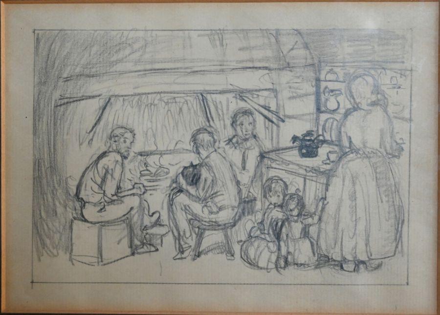 Kate Elizabeth Olver (1881-1960) - pencil - Image 3 of 5