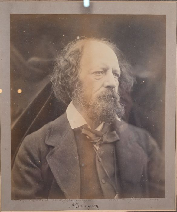 Julia Margaret Cameron - large albumen photographic print of Alfred Lord Tennyson - Image 5 of 5