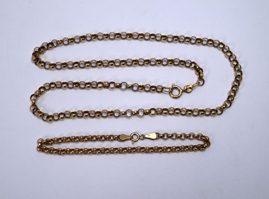 A 9ct rose gold belcher chain - Image 3 of 3