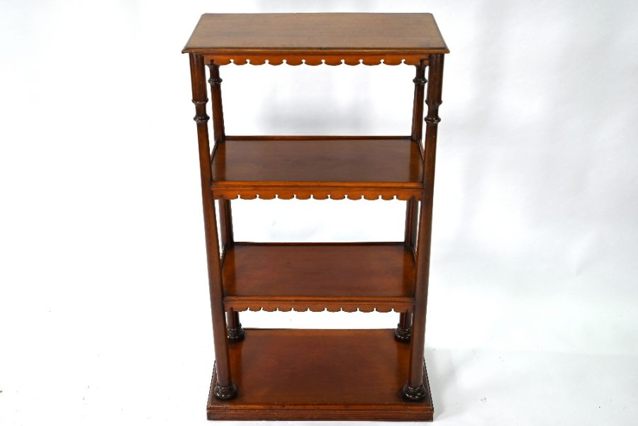 A Victorian mahogany three tier bookstand / what-not - Image 2 of 4