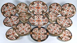 A Victorian Ashworth Brothers Real Ironstone china part dinner service