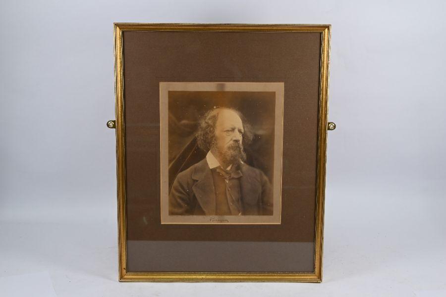Julia Margaret Cameron - large albumen photographic print of Alfred Lord Tennyson