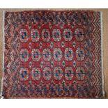 An antique Turkoman rug