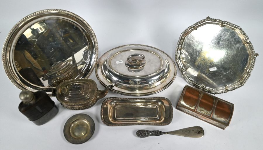 Silver teapot, etc. - Image 2 of 5