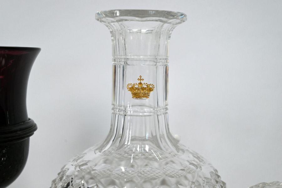 Antique amethyst glass goblet - Image 3 of 4