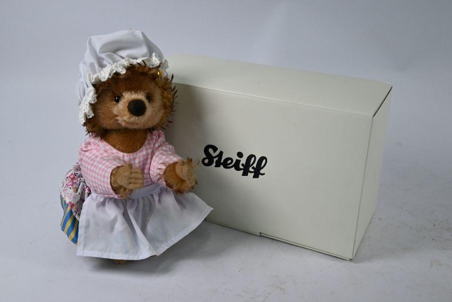 A boxed Steiff mohair 'Mrs Tiggy-Winkle'