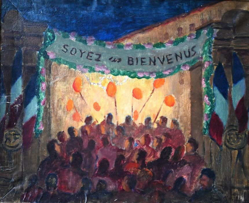 Early 20th century French school - oil on canvas