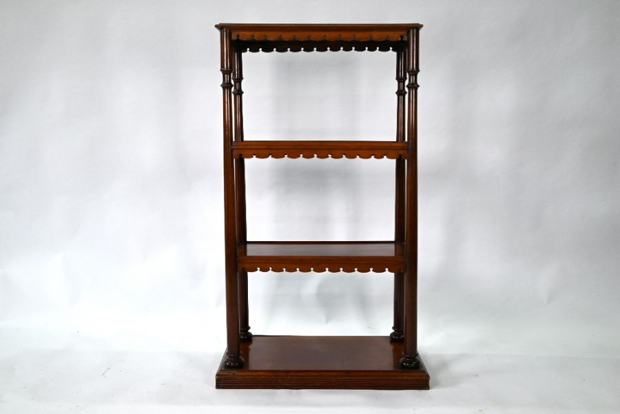 A Victorian mahogany three tier bookstand / what-not - Image 4 of 4
